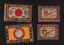 Collectible  match box labels CHINA or JAPAN patriotic  #775